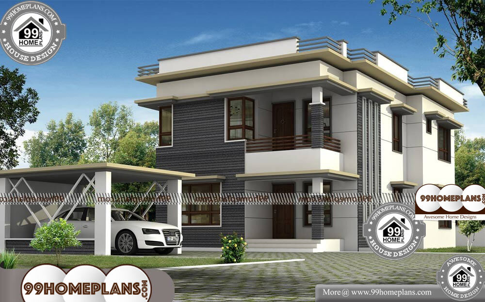 Small House With Garage Plans - 2 Story 2343 sqft-Home