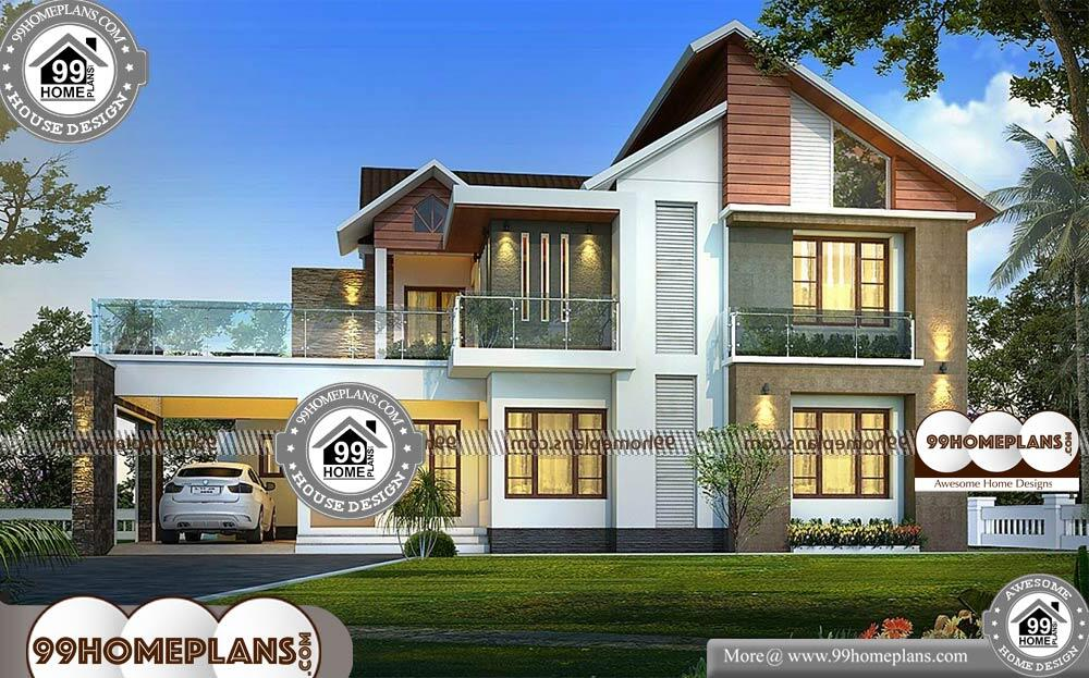 West Facing House Vastu - 2 Story 2950 sqft-Home
