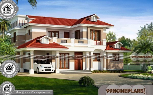 Affordable Housing Design | Two Story Traditional Home Plans Indian ...