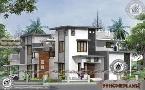 American Contemporary House Designs with Two Floor Cute Collections