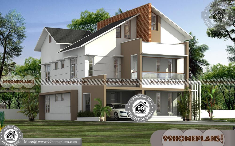 Arabic House Plans | Two Storey 5 Bedroom Modern Home ...