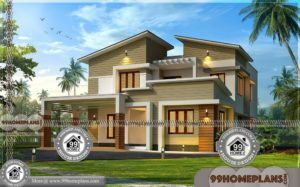 Architectural Floor Plans | Double Story Contemporary Home Design Plans