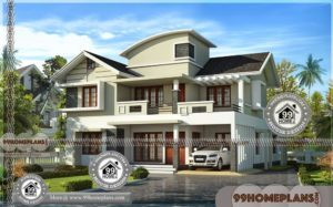 Architectural Home Plans | Double Story Contemporary Modern Designs