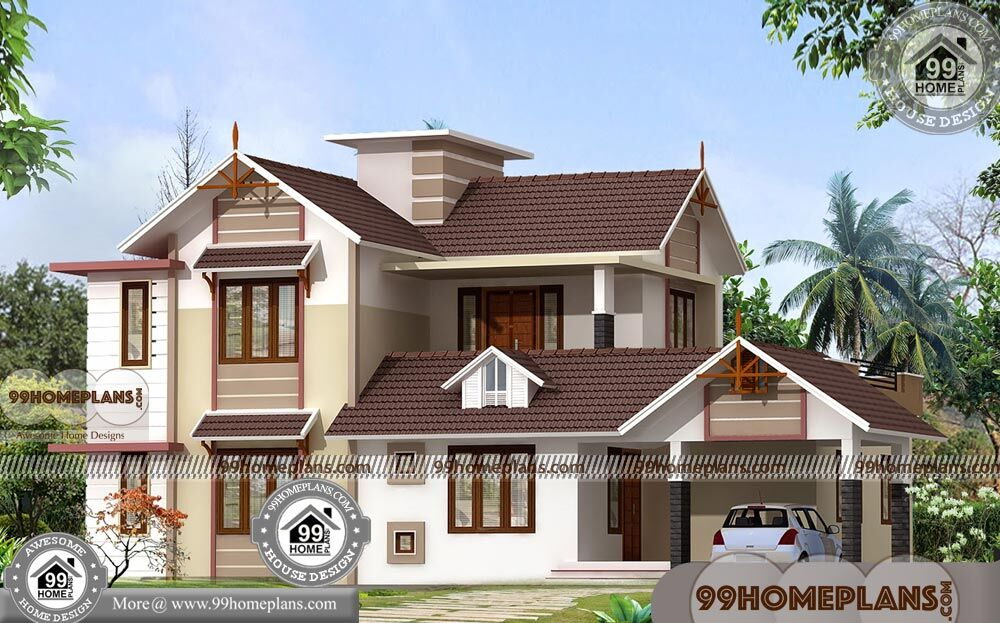 Architectural house plans with 3d elevations low cost for 2400 sq ft house plans 3d