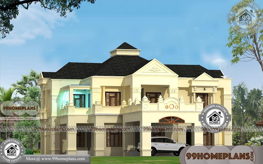 Beautiful Double Storey Houses With 3d Elevations Best