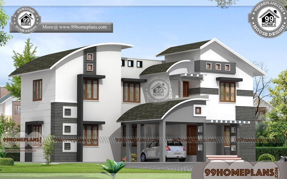 Beautiful houses in india 2 story contemporary home plan for Narrow house plans india