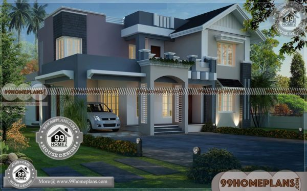 Best Home Plans In Kerala Two Story Contemporary Modern House Plan