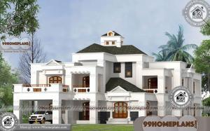 Bungalow Home Style with 3D Elevations | Two Story Above 5000 sq ft