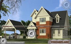 Bungalow House Plans With Garage | Two Story 3 Bedroom Home Ideas