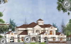 Bungalow Style Home Design Structural Plans with 3D Elevations
