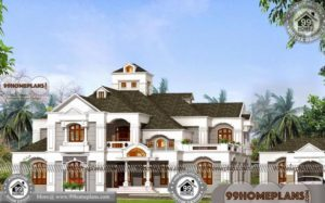 Bungalow Style Homes with Double Story Arabian Model House Elevations
