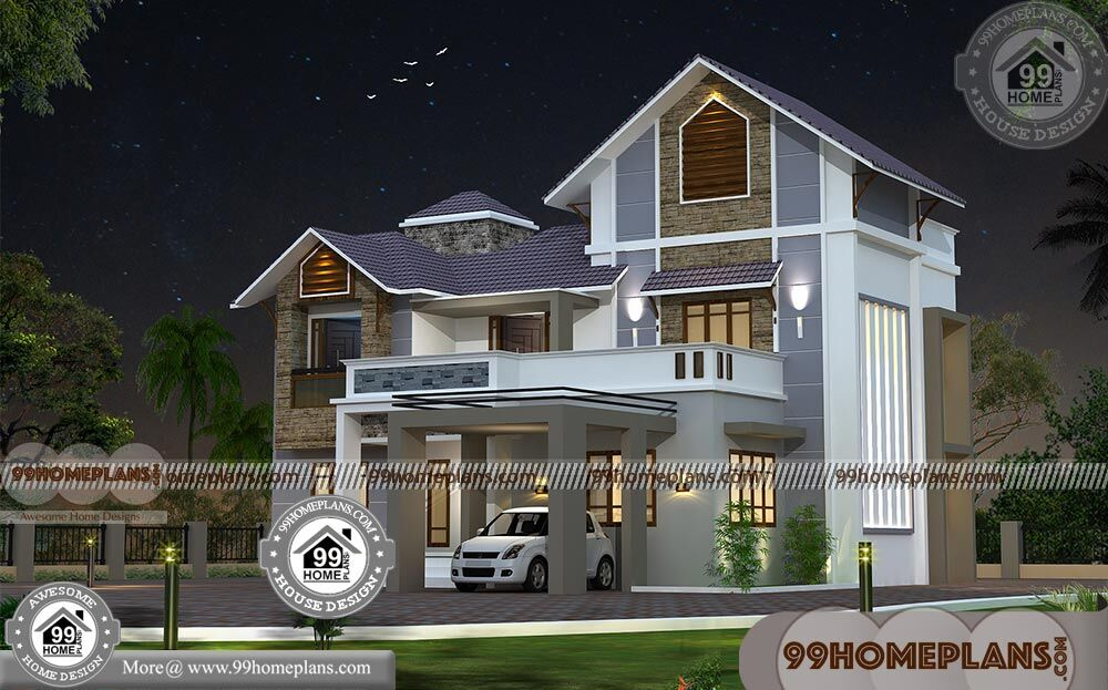 Cheap two story homes with 3d elevations low cost mind for Cheap two story houses