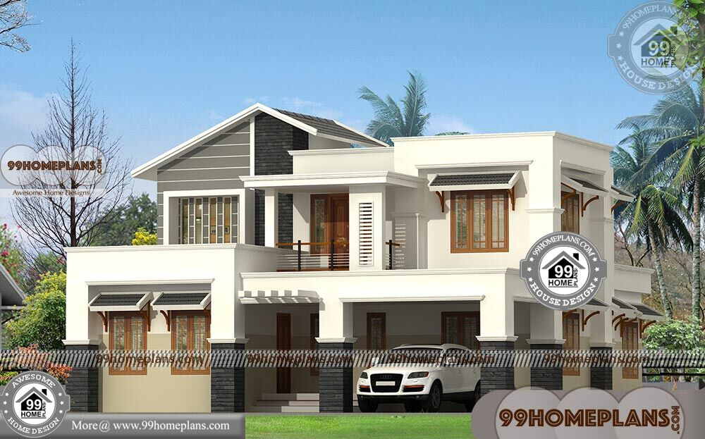 Contemporary Architecture Homes with Double Floored Fusion Style Plans