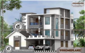 Craftsman Style House Plans   Best Low Cost Double Floor Modern Home