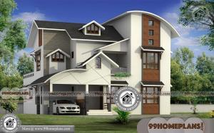 Design Of Two Story House | Contemporary 4 BHK Floor Plans Online