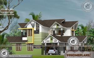 Double Storey 4 Bedroom House Plans with Contemporary Style Designs