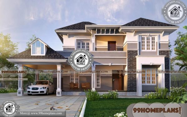 Front Elevation Modern House In 2d : Duplex house front elevation designs double story