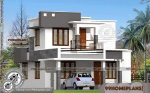 Duplex House Plans | Two Floor City Type Narrow Lot Modern Home Ideas