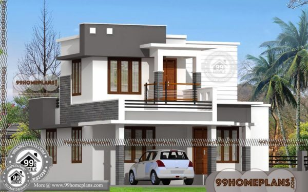 Duplex house plans two floor city type narrow lot modern for City lot house plans