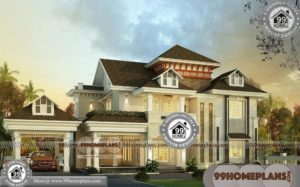 Elevation Design For Home | Double Story European Style House Plans