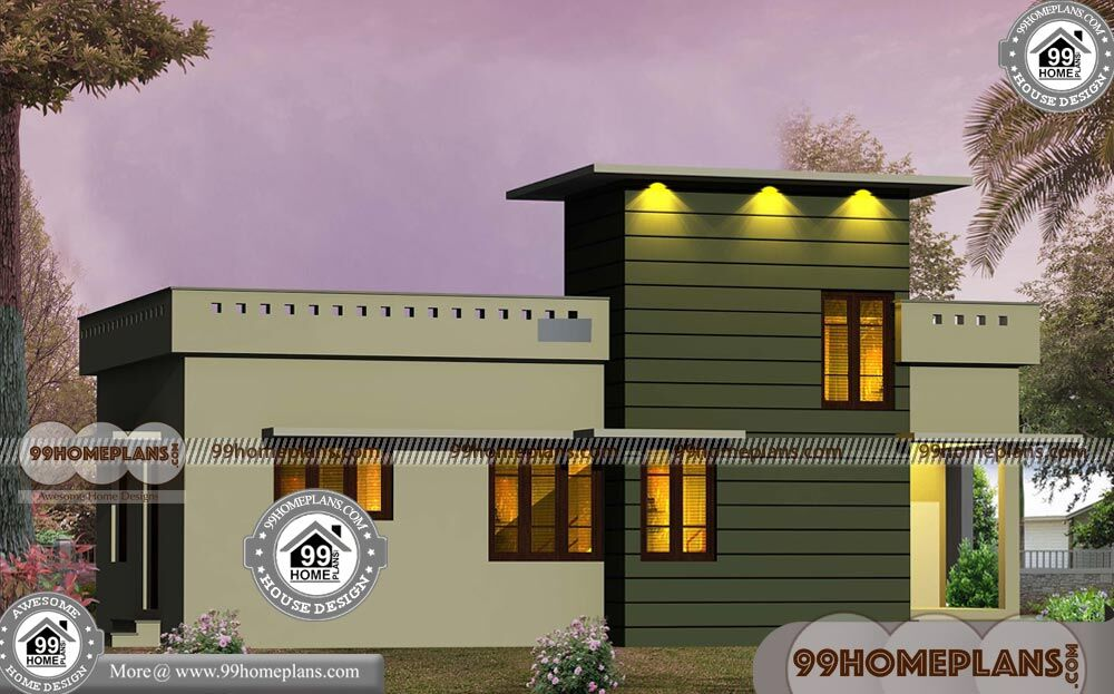 Ente Veedu Plans With One Story Flat Roof Low Cost Stylish