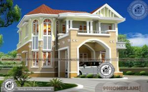 European Home Plans With Photos | Low Budget Modern House Collection