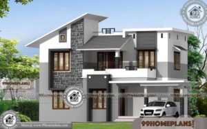 Floor Plan Designer with Elevations | Double Storey Contemporary Plans
