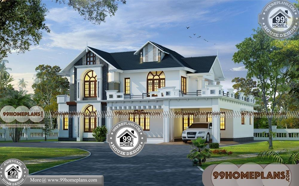 Front Design Of House In Small Budget | 2 Floor Traditional Home Ideas