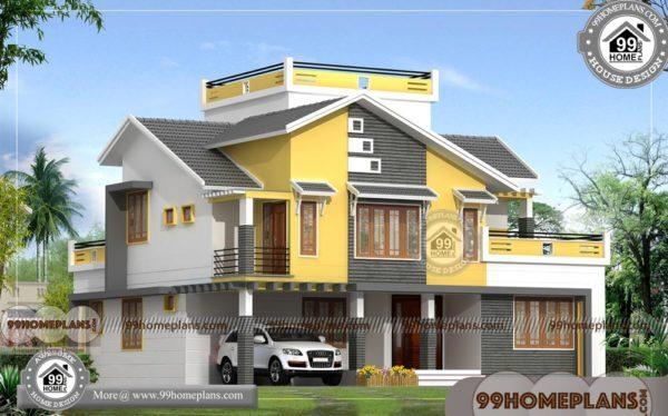 Front Elevation Design with Two Floor Contemporary 2550 sq ft Home Plan