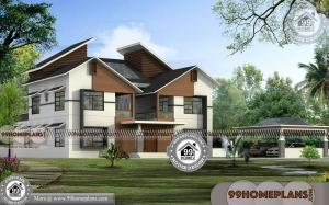 Garage House Plans | 4 Bedroom Two Storey Ultra Modern Collections