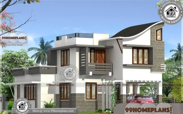 Home Design 3d Double Floor 1910 Sq Ft Contemporary 500 House Plans