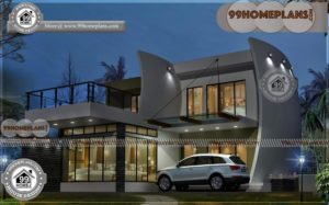 Home Design Ideas | Double Story Contemporary & Modern arch Houses