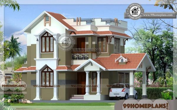 Home design india small size two story traditional house for Indian traditional house plans