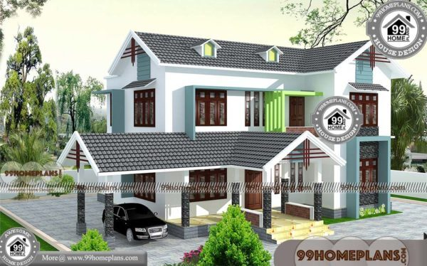 Home Design Kerala with 3D Elevations | Low Budget Two Floor Designs