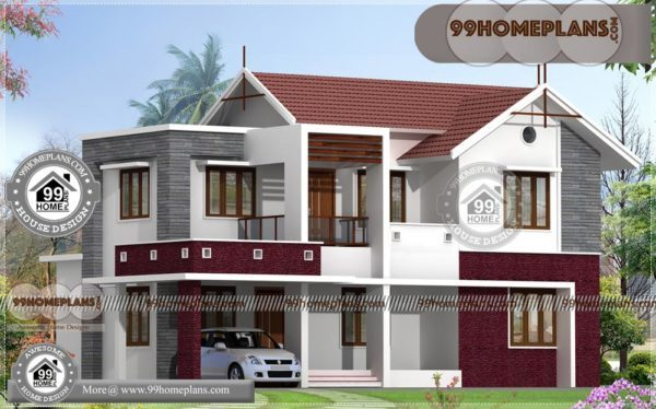 Home Front Design Indian Style With 3D Elevations | 90 House Floor Plans