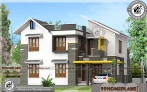 Home Front Design | Kerala 2 Floor 30 Lakh Budget House Plan Photos