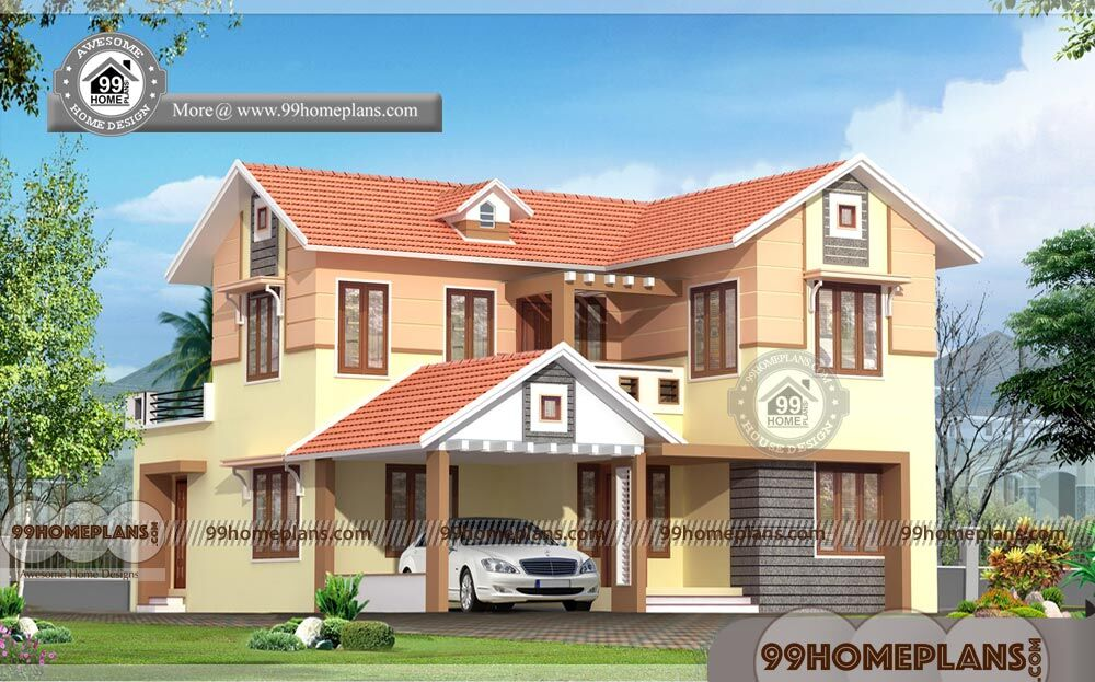 Home Interior Design Best Kerala Traditional Style Two Story House Plan
