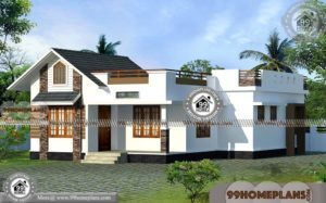Home Traditional One Story House Designs with 3D Elevation Collections