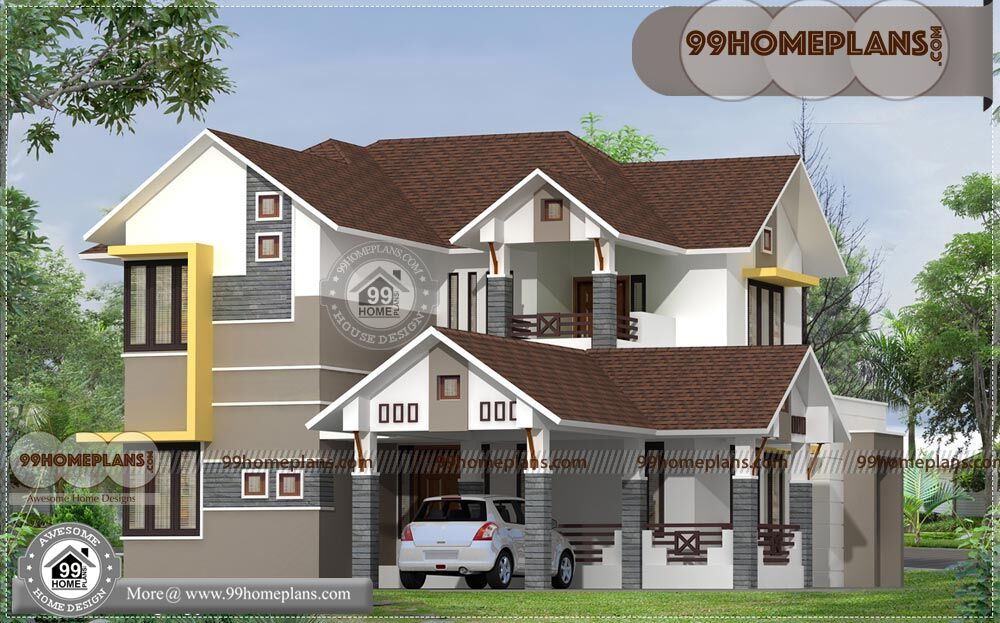 House designs in india small house best two story for P o p indian home designs