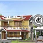 House Elevation Design | Two Story Ultra Modern Traditional Home Plans