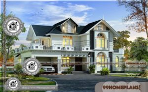 House Floor Plan Design | Two Story Traditional Modern Home Collections