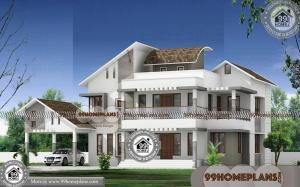 House Floor Plans 4 Bedroom | Double Story Contemporary Modern Plans