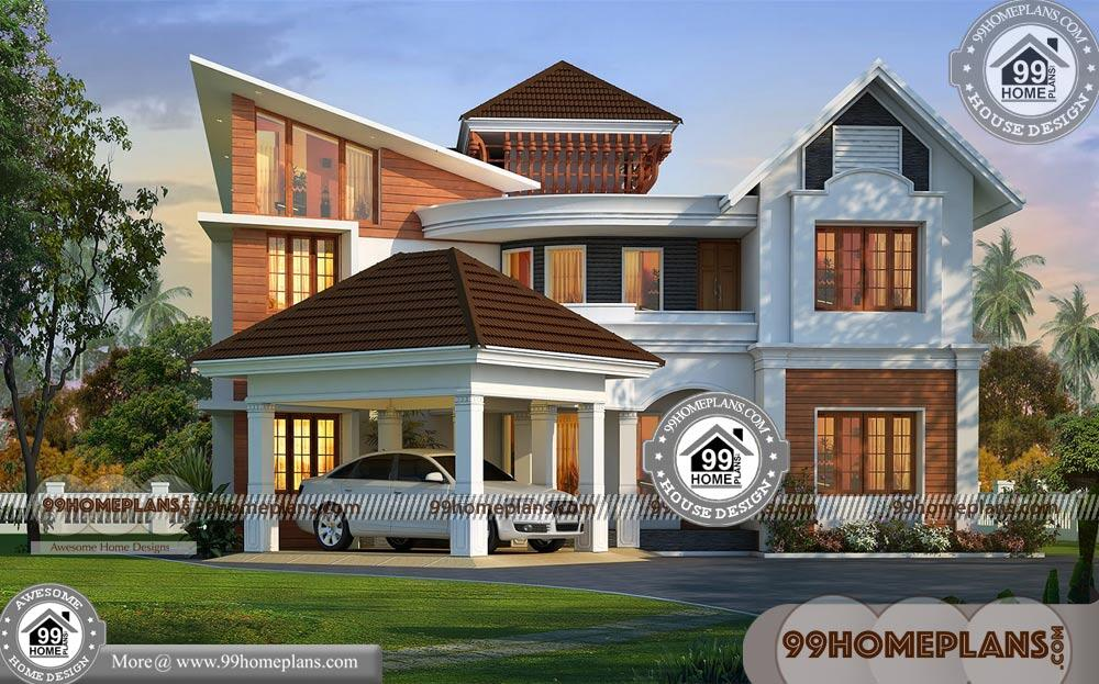 Front Elevation Of Double Storey Building : House front elevation designs double story