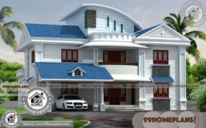 House Photos In Kerala with Double Floor Contemporary Modular Home