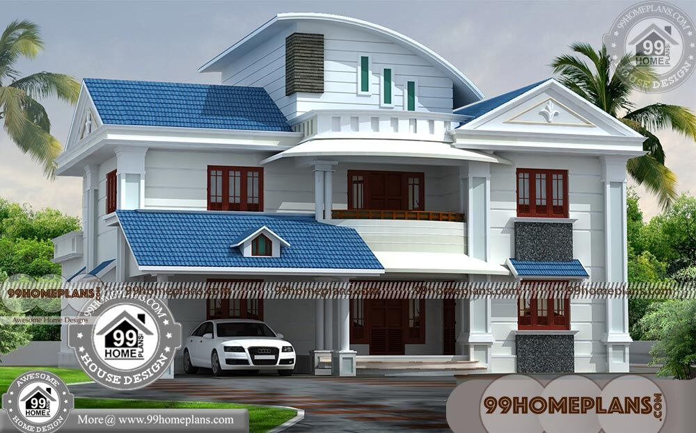 House Photos In Kerala With Double Floor Contemporary