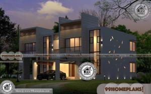 House Plan 4 Bedroom | Double Floored Fusion Style Home Design Ideas