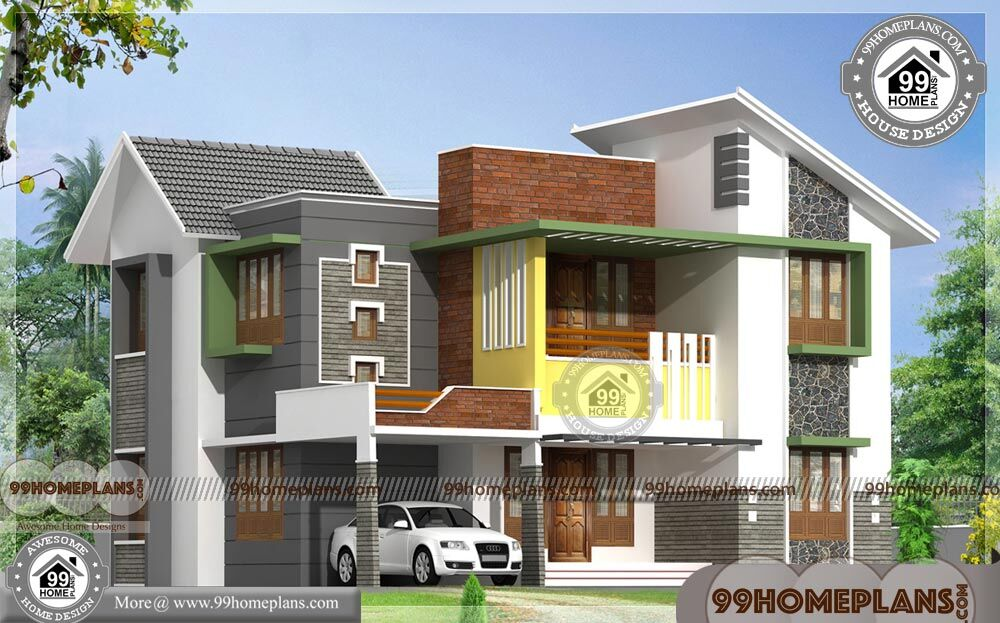 House Plans Kerala Style | Two Story 4 Bedroom Modern Home ...