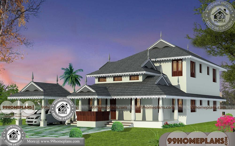 House plans kerala traditional with double story cute huge for Big cute houses