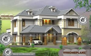 House Plans With 4 Bedrooms with Double Level Contemporary Designs