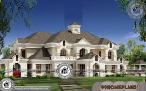 House Plans With Photos | Two Floor Largest Bungalow Style Home Plans